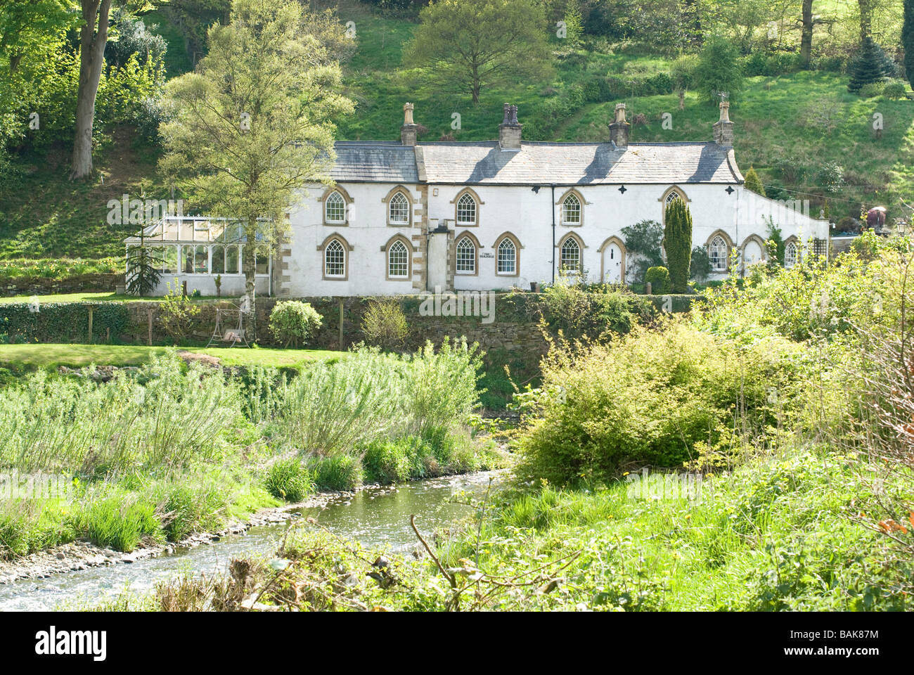 Cottages at Whalley in Lancashire - Stock Image