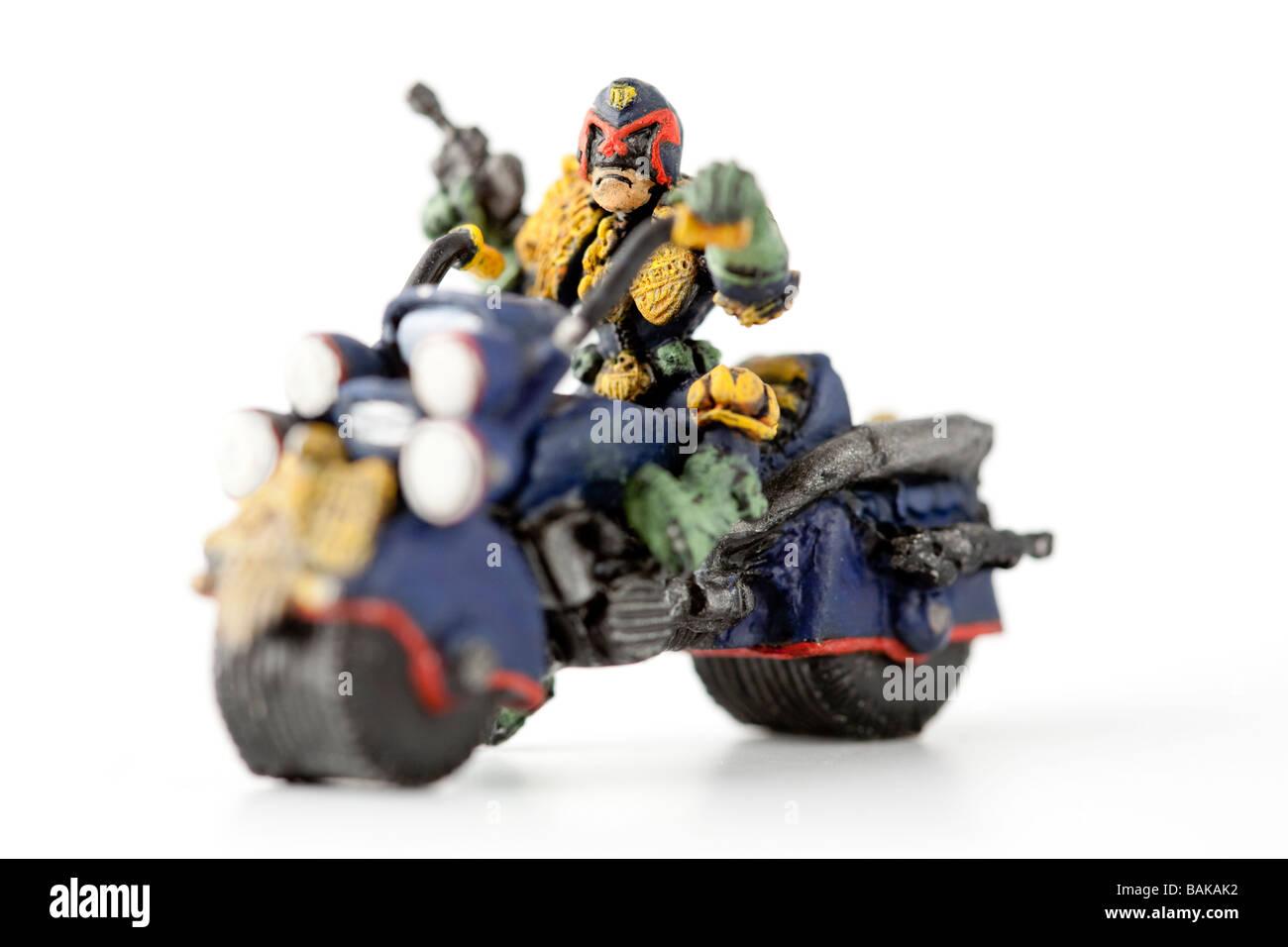 Figure of Judge Dredd from british comic book 2000 AD Stock Photo