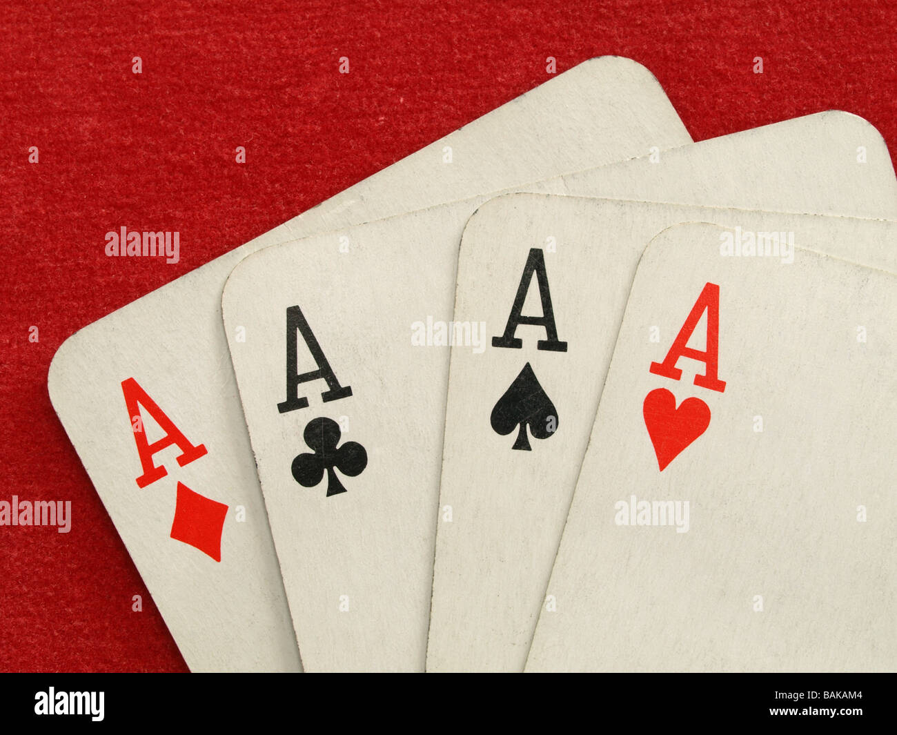 Four Aces Is One Of The Best Card Hands In Stud Or Draw Poker Stock