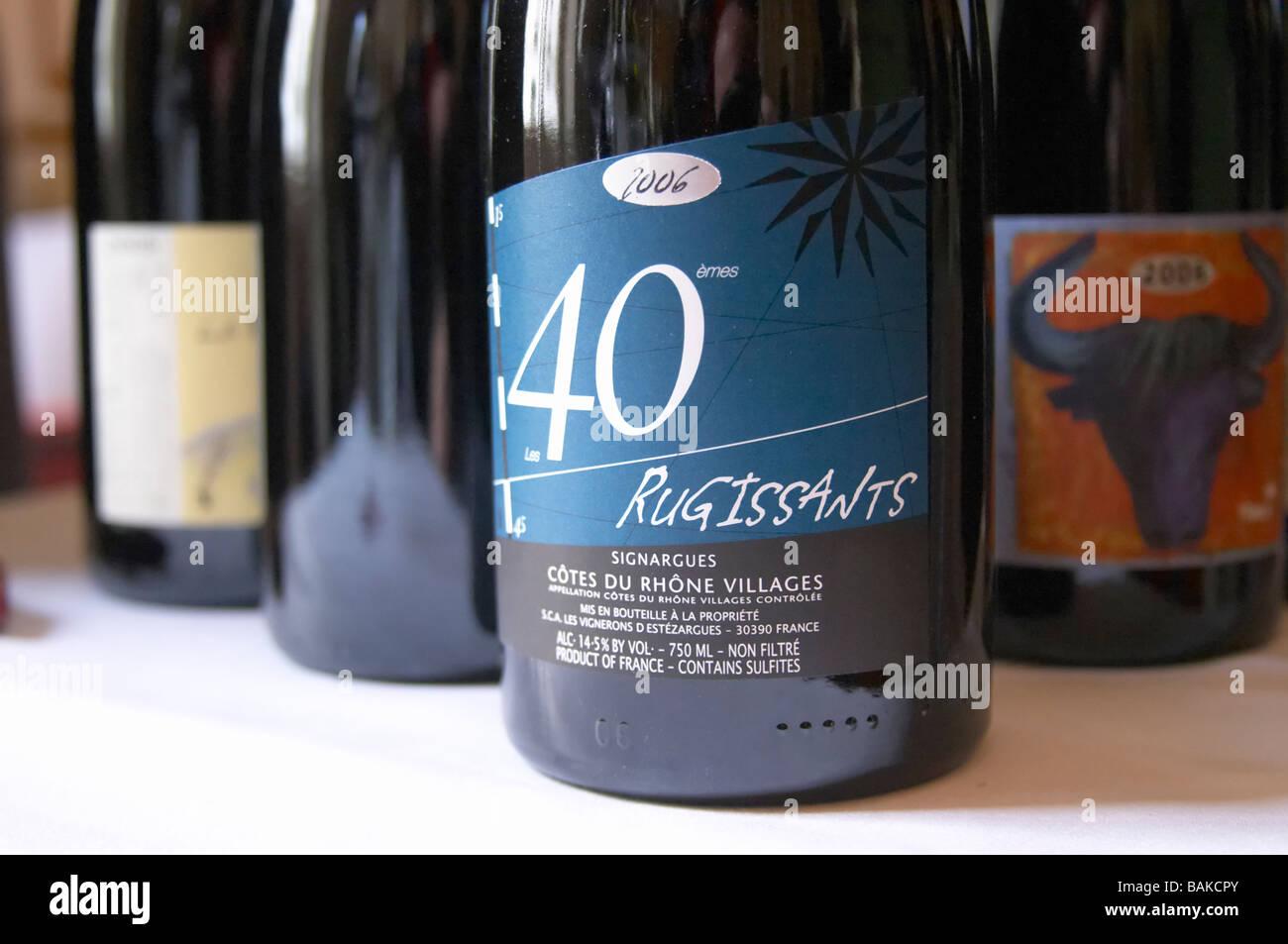 rugissants cdr villages unfiltered les vignerons d'estezargues rhone france - Stock Image