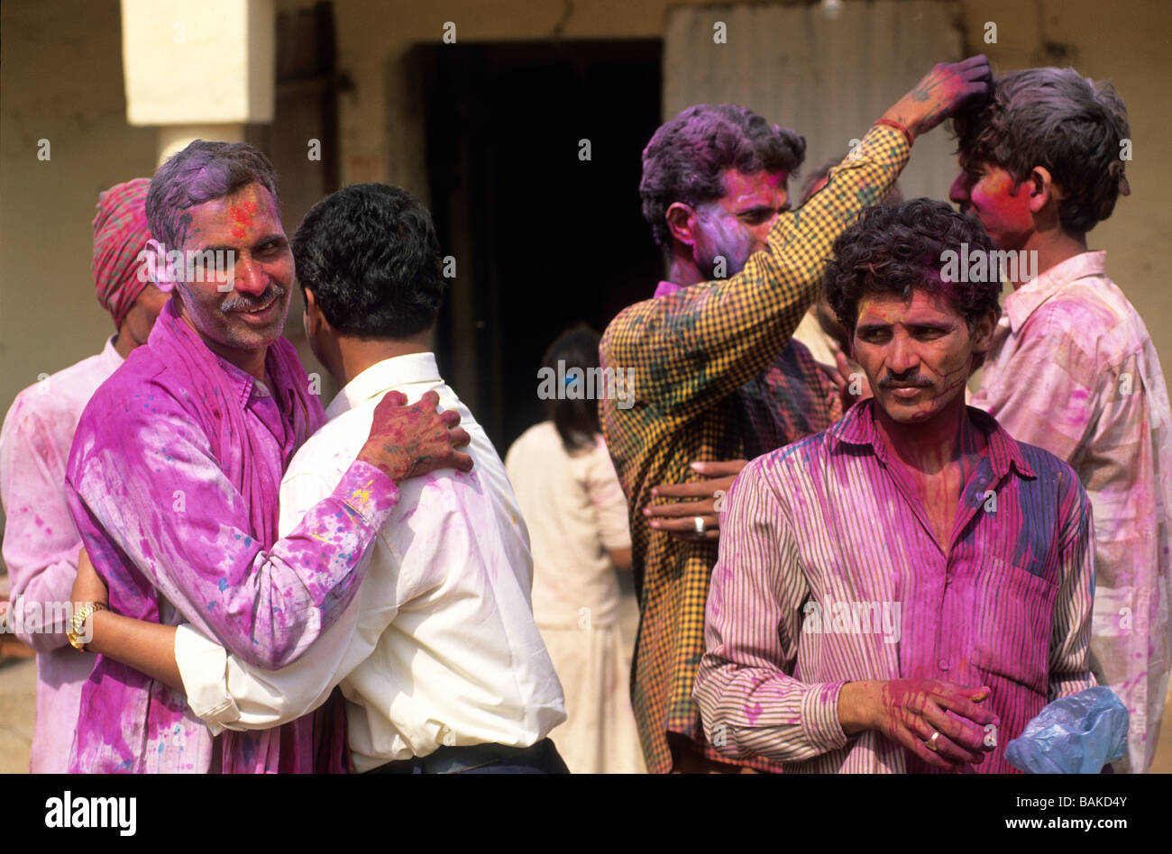 Greetings india stock photos greetings india stock images alamy india uttar pradesh state mathura morning greetings on the first day of holi m4hsunfo
