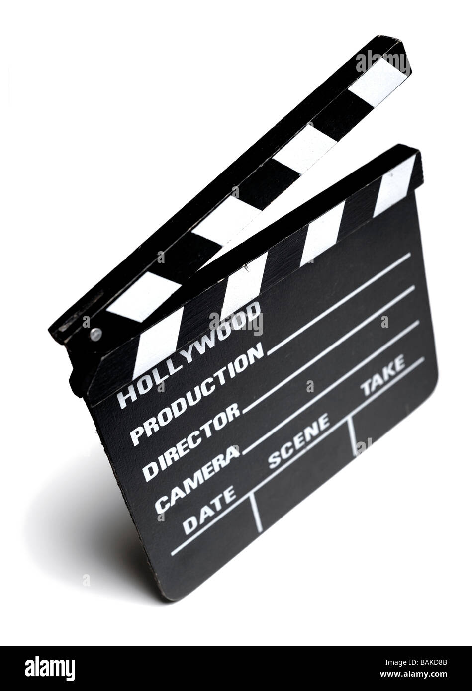Film clapper board - Stock Image