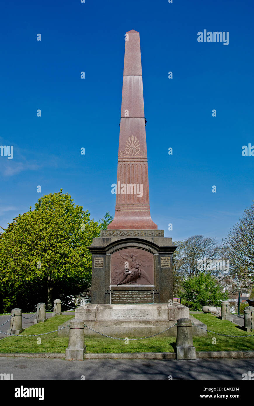 the south african war memorial on the hoe at plymouth,devon,uk - Stock Image