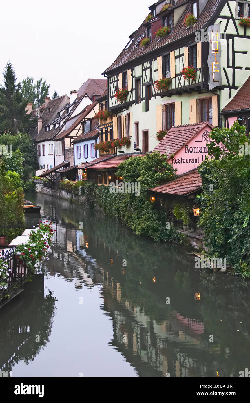 little venice 'petite venise' romantik hotel colmar alsace france - Stock Image