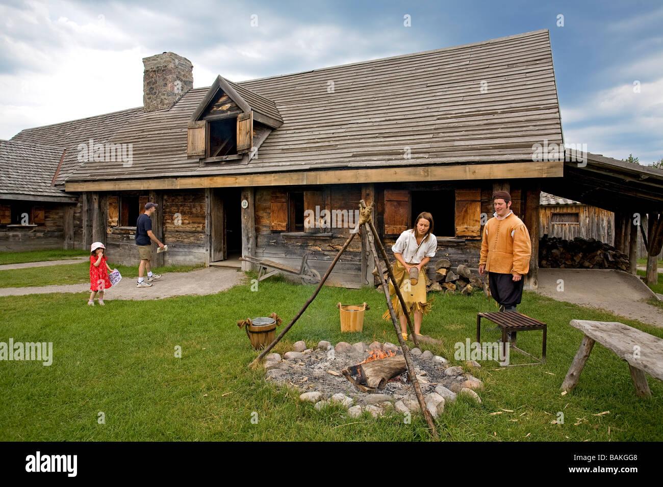 Canada, Ontario Province, Midland-Penetanguishene Region, Sainte Marie among the Hurons, Museum of Hurony and Huron - Stock Image