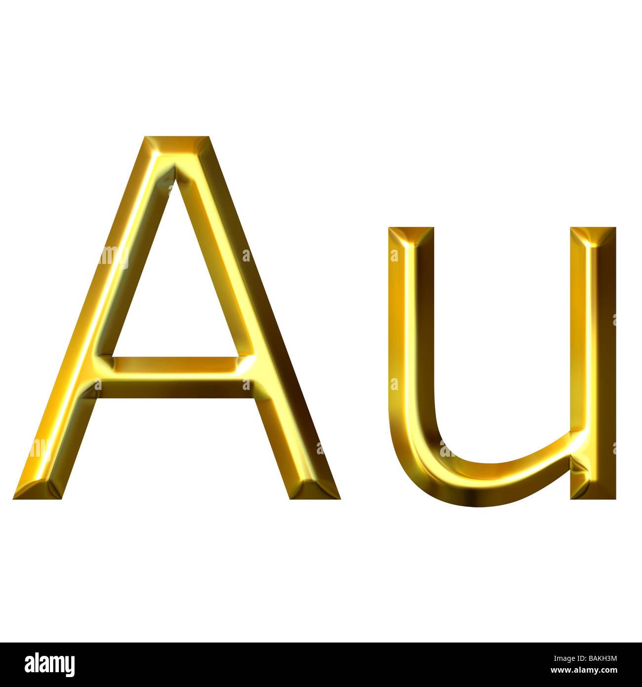 Symbol au chemical element gold stock photos symbol au chemical gold symbol stock image urtaz Gallery