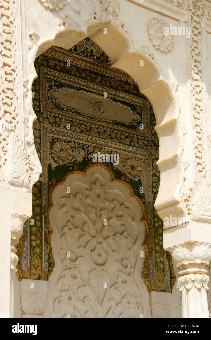 Jaipur City Palace Museum of Sawai Man Singh II inside the Chandra Mahal Rajasthan India - Stock Image