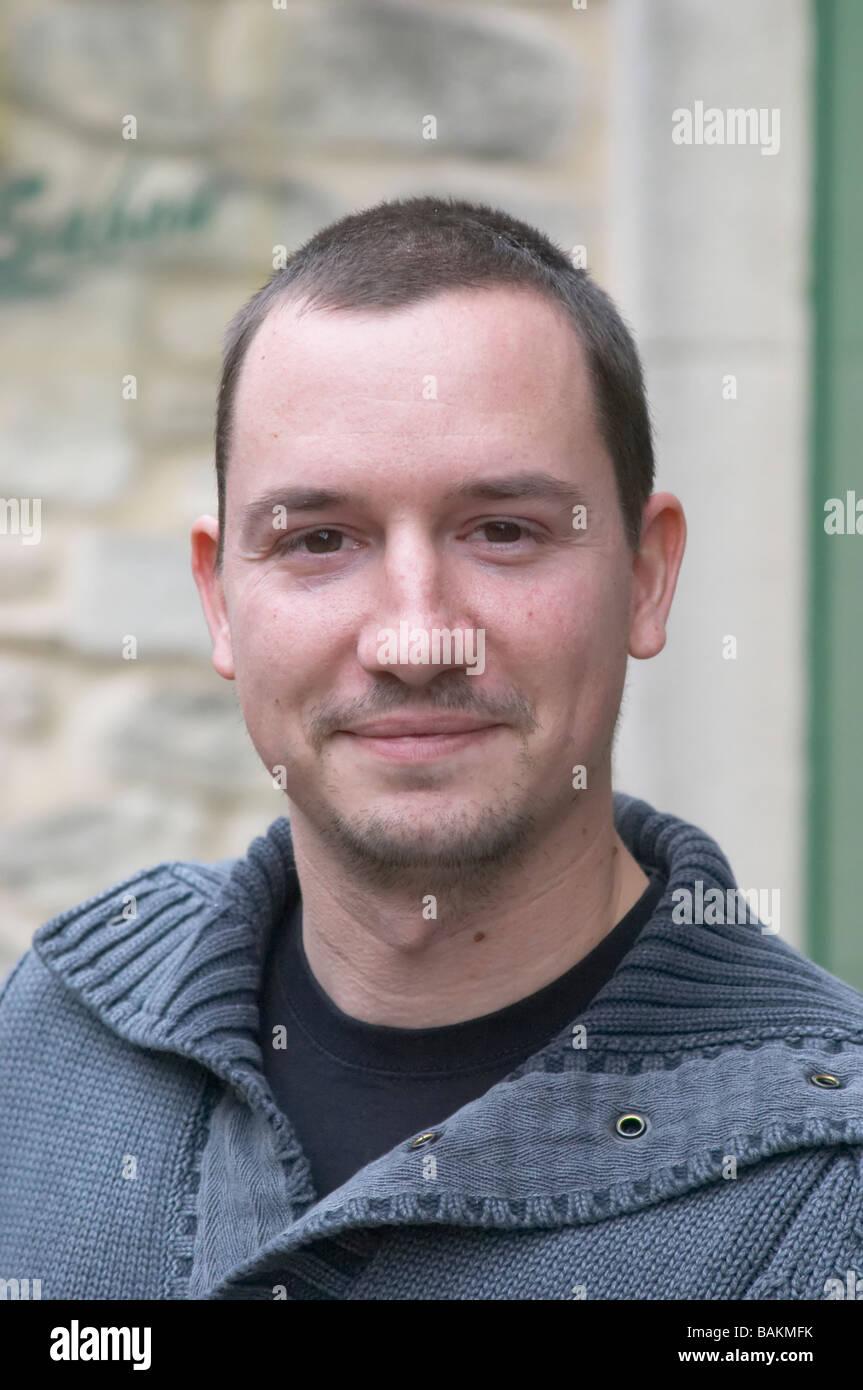 Julien Sabon owner domaine roger sabon chateauneuf du pape rhone france - Stock Image