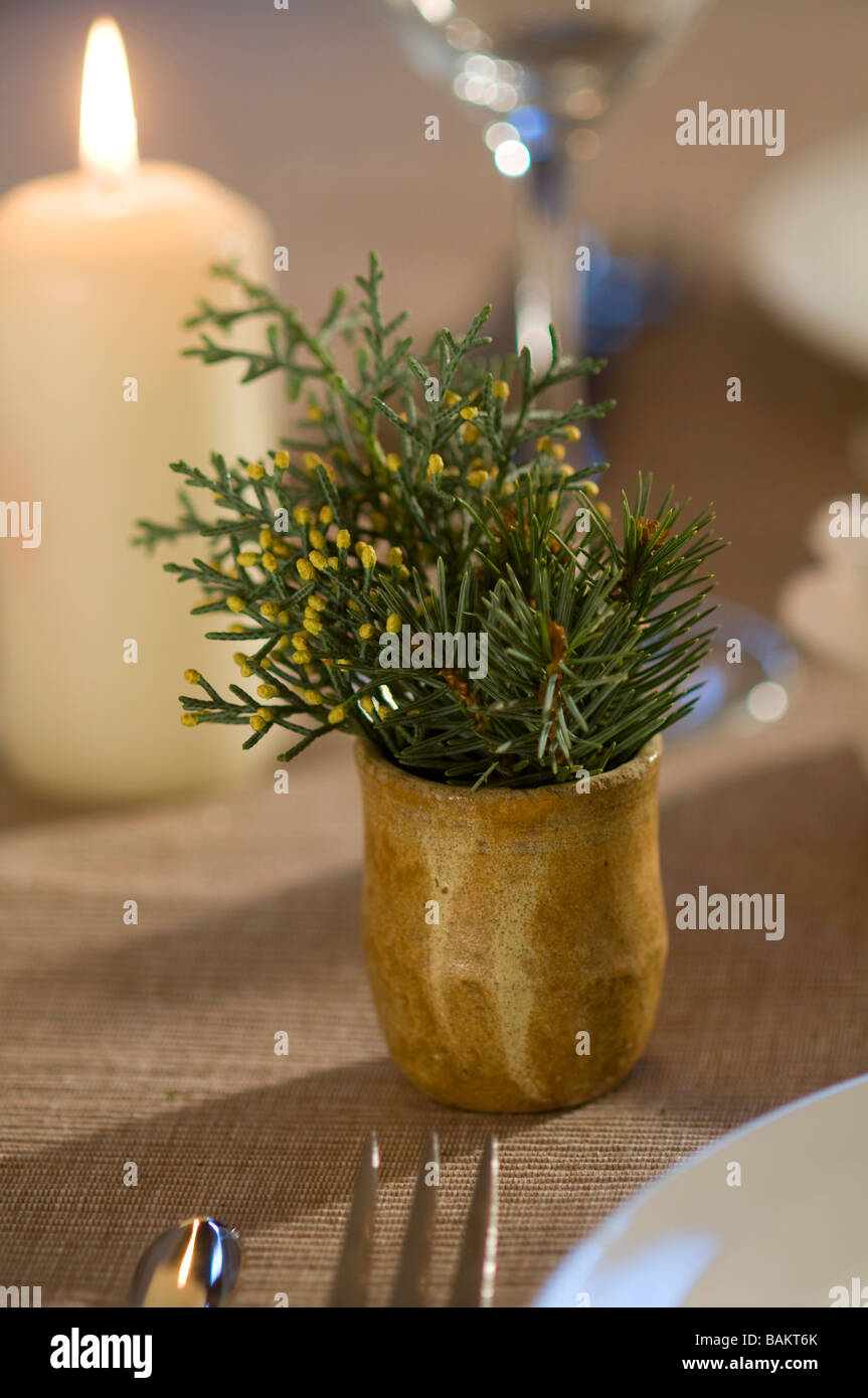 Christmas table decoration - Stock Image