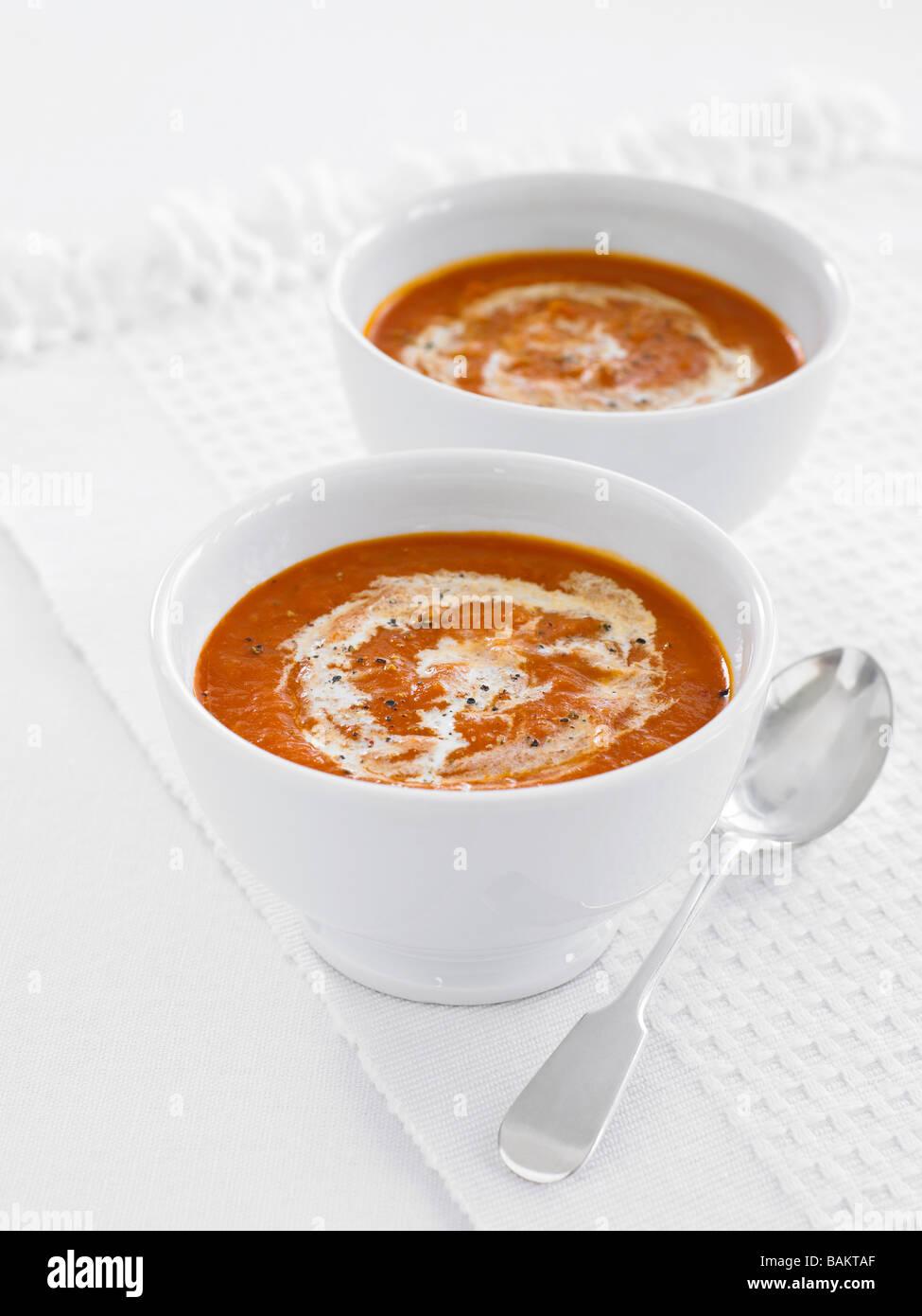 tomato soup - Stock Image