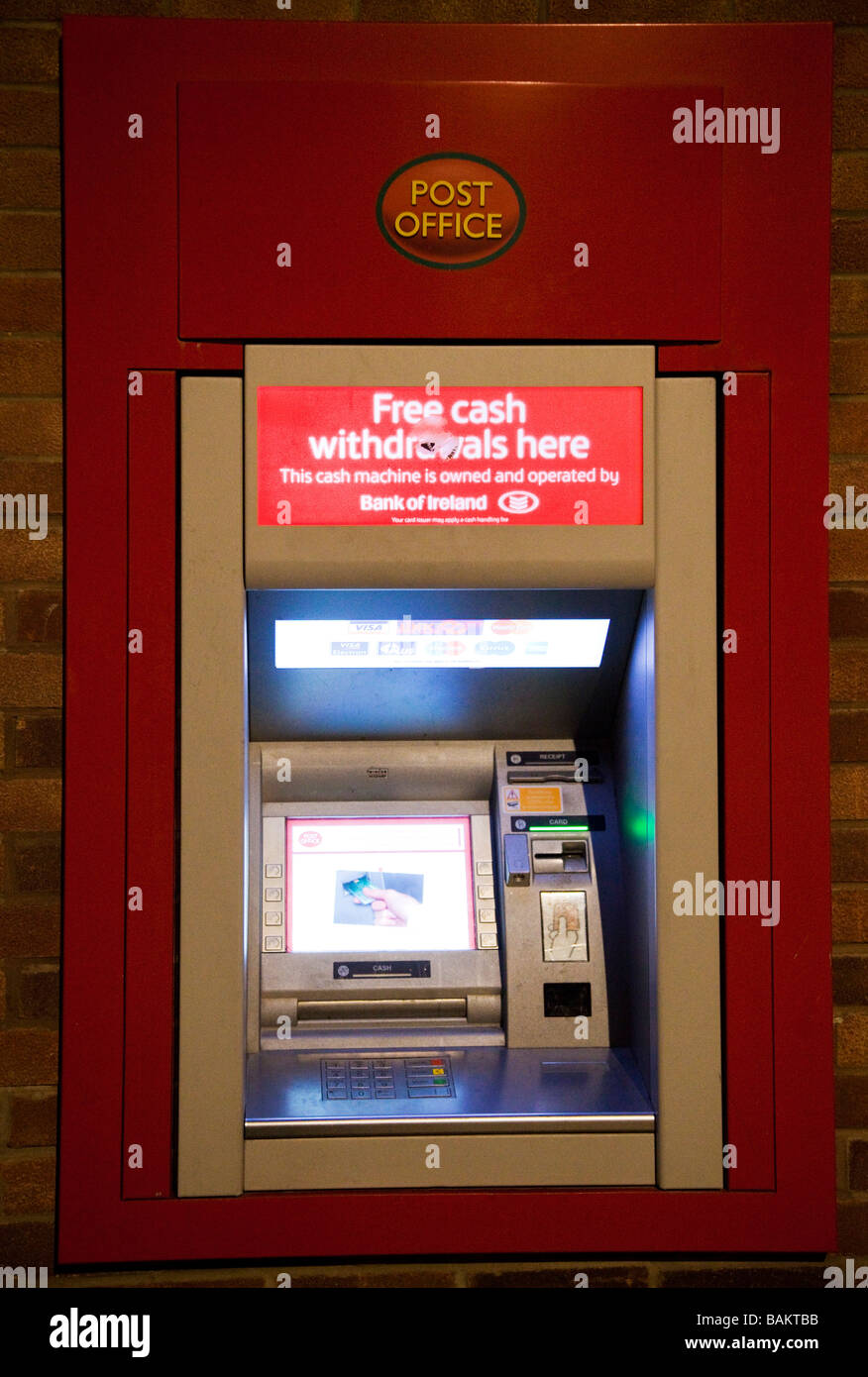 Post Office ATM cash machine in UK Stock Photo - Alamy