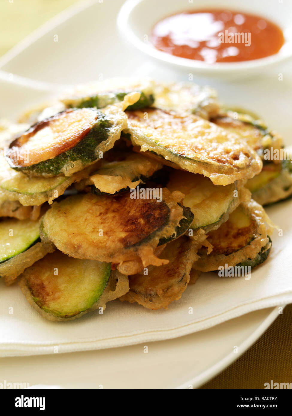 courgettes in batter Stock Photo