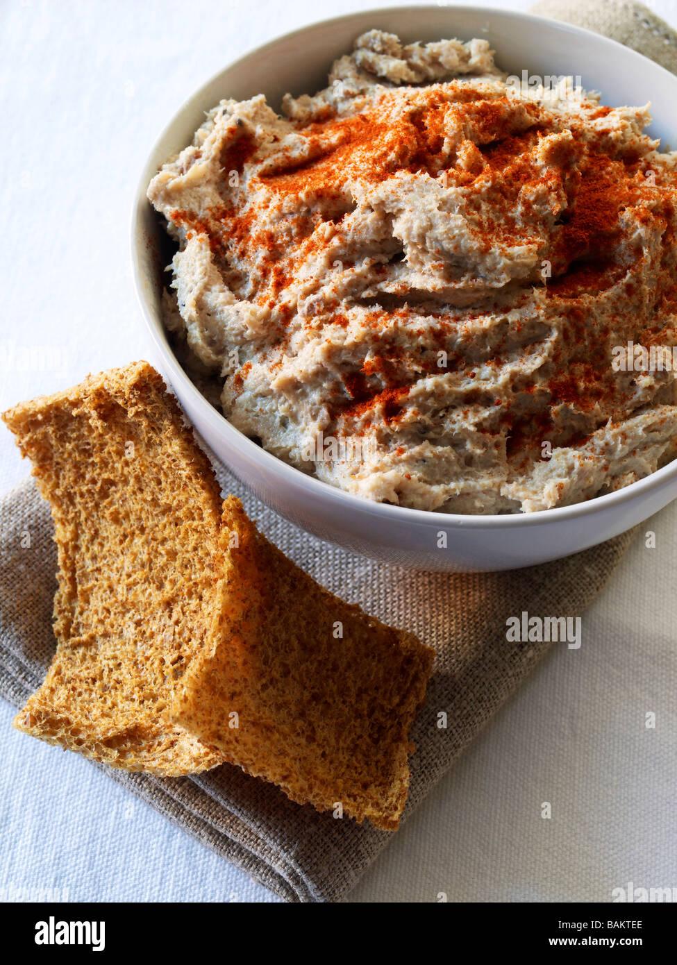 smoked fish pate - Stock Image
