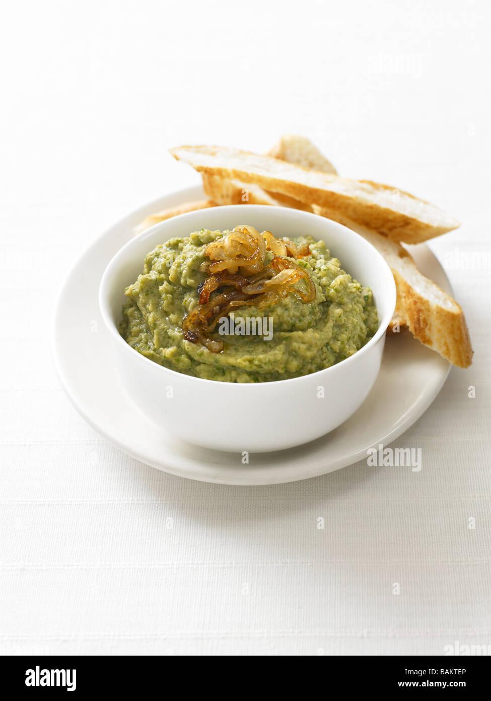 Broad Bean Puree - Stock Image