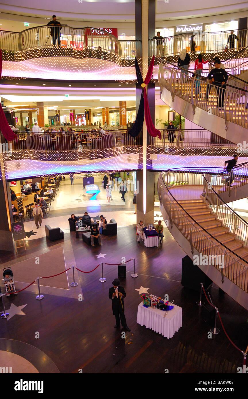 Bur Juman is the upmarket address of Dubai's malls - Stock Image