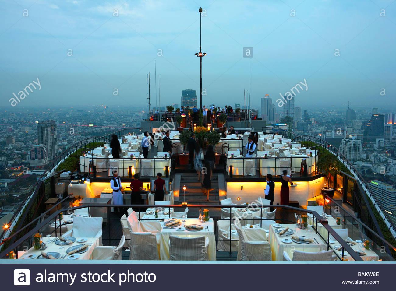 Banyan Tree Hotel, Vertigo bar and restaurant, Bangkok, Thailand - Stock Image