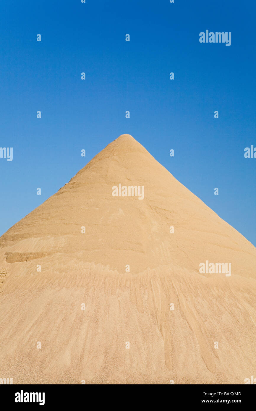Mound of sand - Stock Image