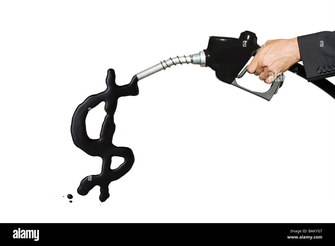 Dollar sign in gasoline - Stock Image