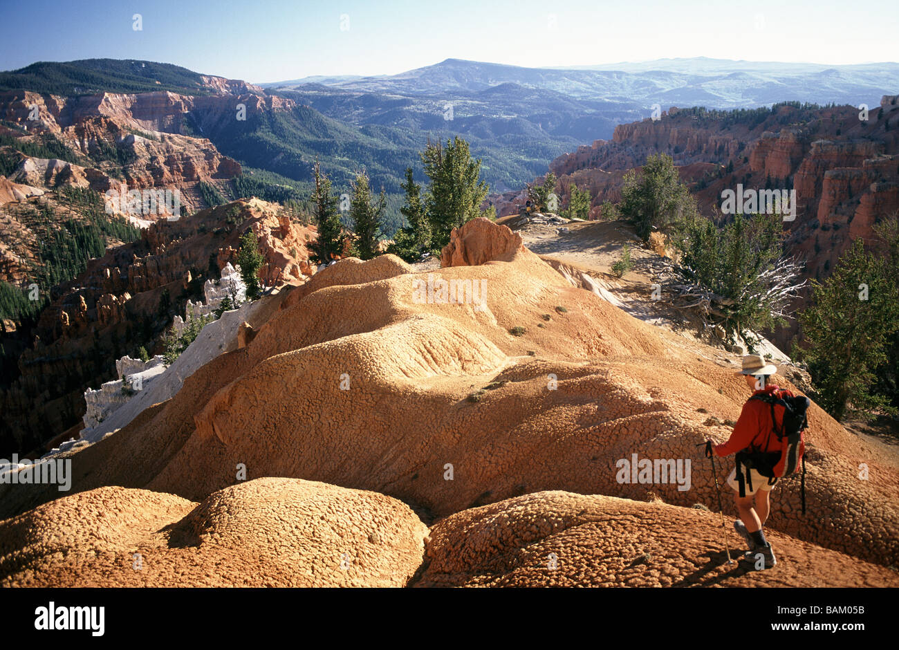 Hiker at cedar breaks national monument - Stock Image