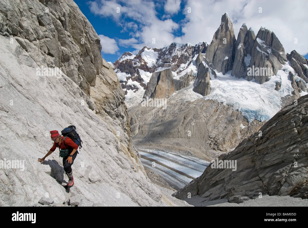 Climber at poincenot - Stock Image
