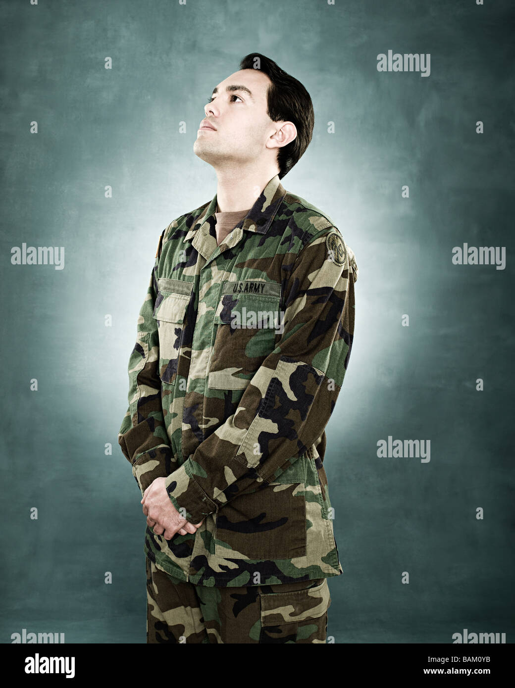 Portrait of a soldier - Stock Image