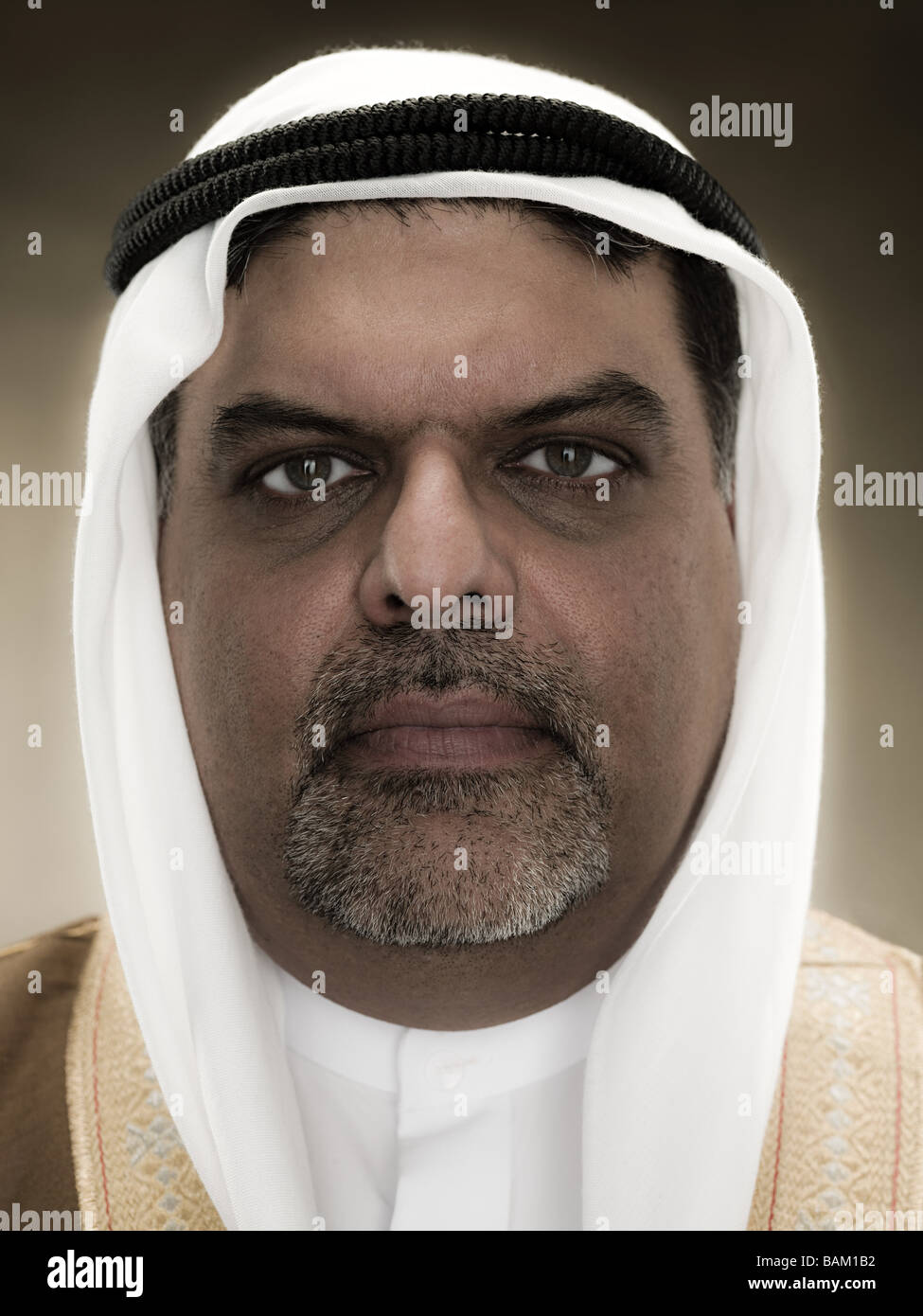 Portrait of a muslim man - Stock Image