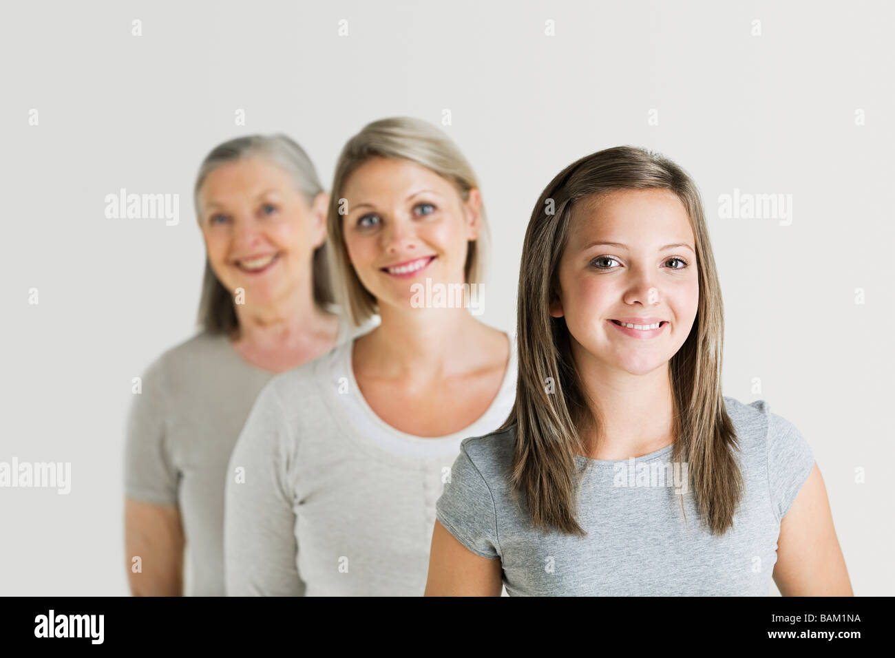 Female family members - Stock Image