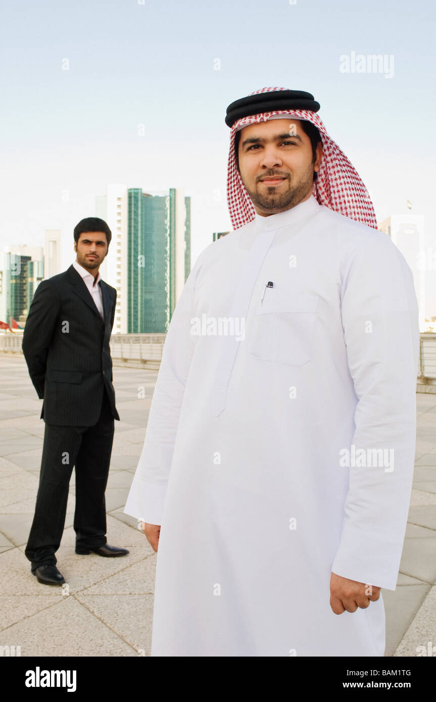 Portrait of middle eastern businessmen - Stock Image