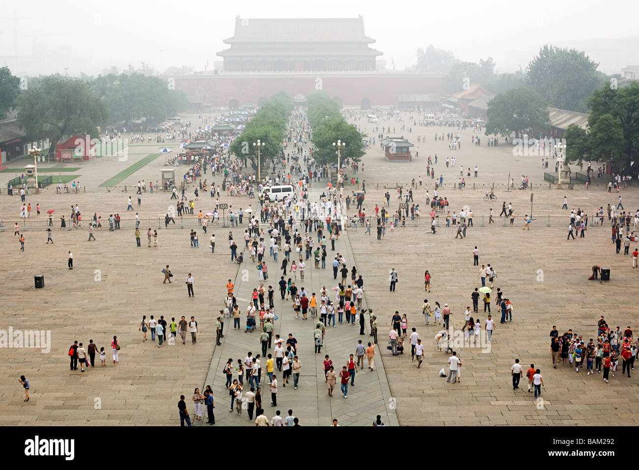 People in tiananmen square - Stock Image