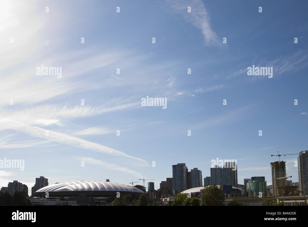 Stadiums in vancouver - Stock Image