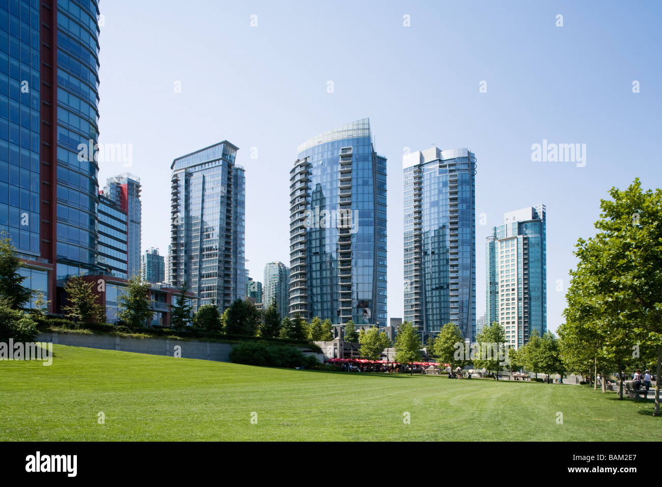 Condo towers in vancouver - Stock Image