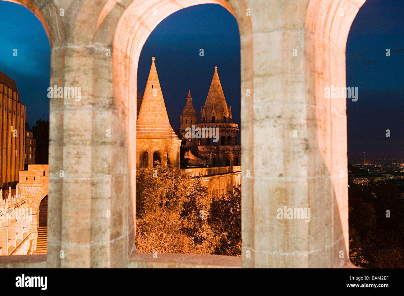 Fisherman's bastion budapest - Stock Image