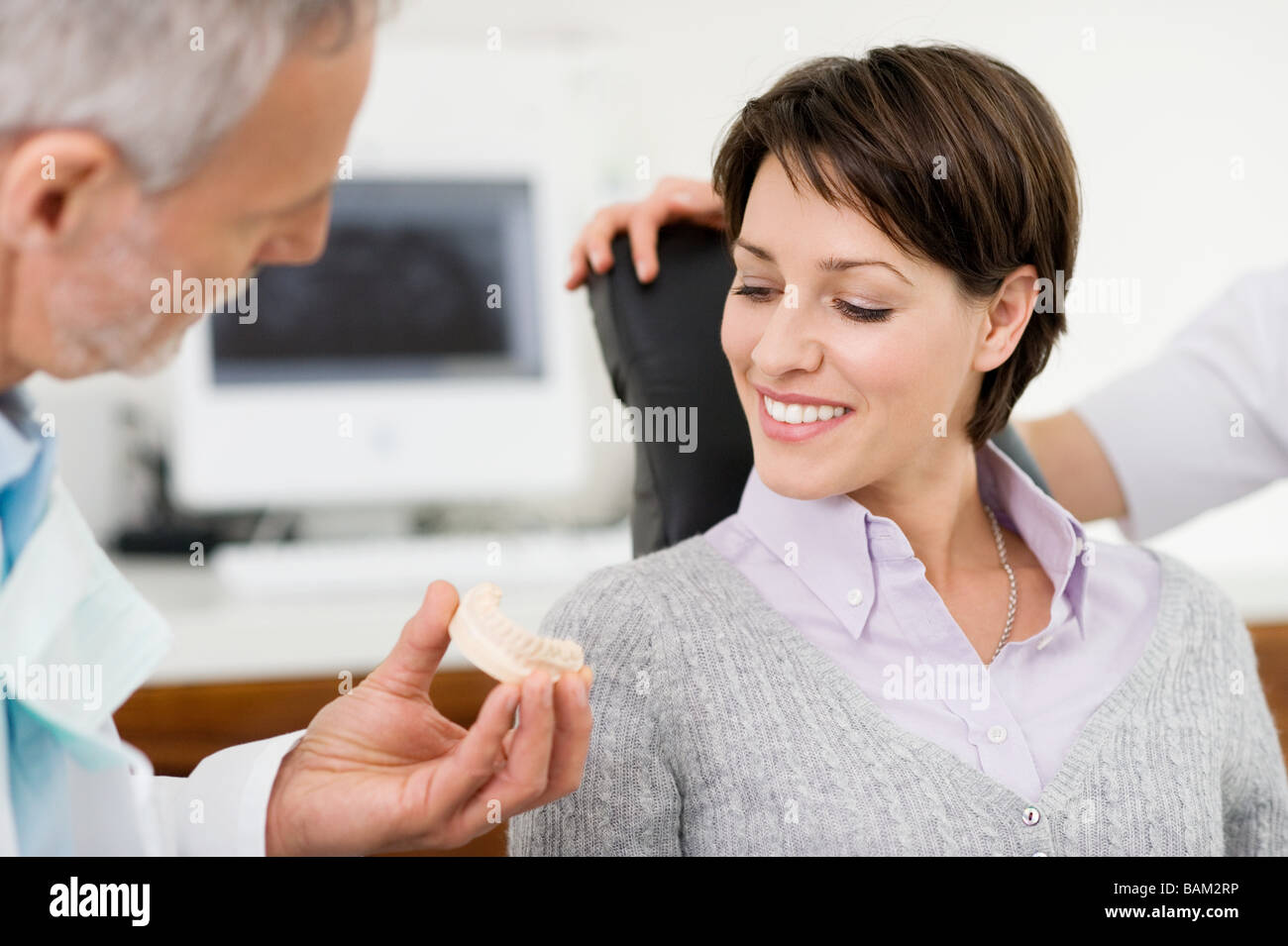 Woman and dentist - Stock Image