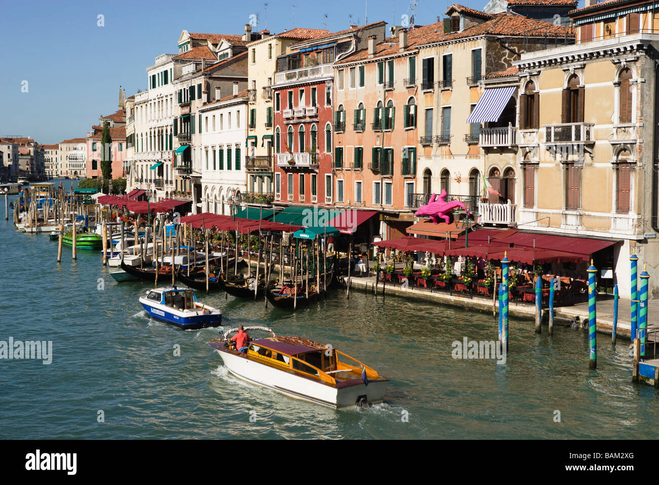 Grand canal in venice - Stock Image