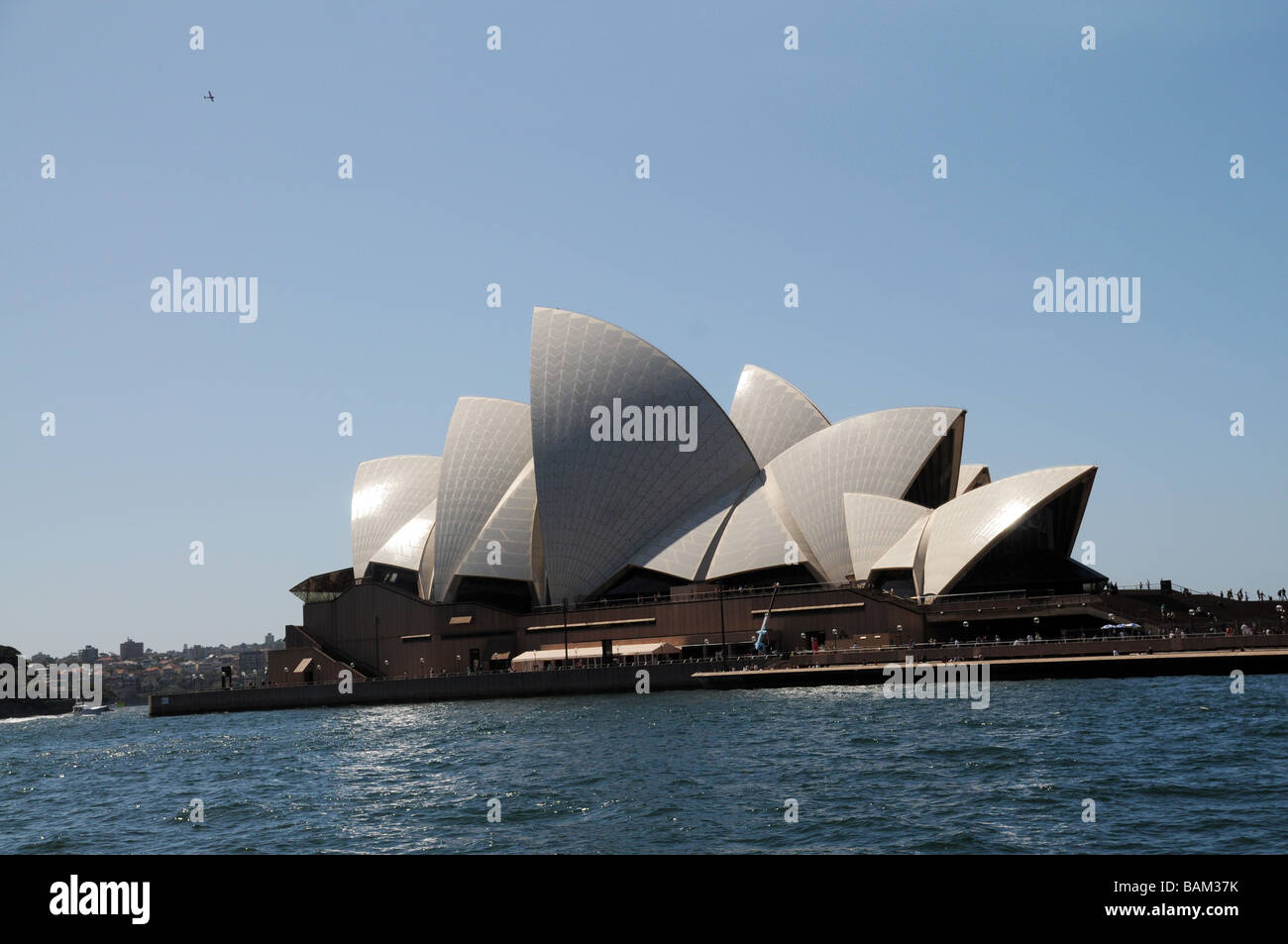 Sydney Australia, View of Opera House built in 2003, designed by Jorn Utzon, one of the word's most distinctive - Stock Image