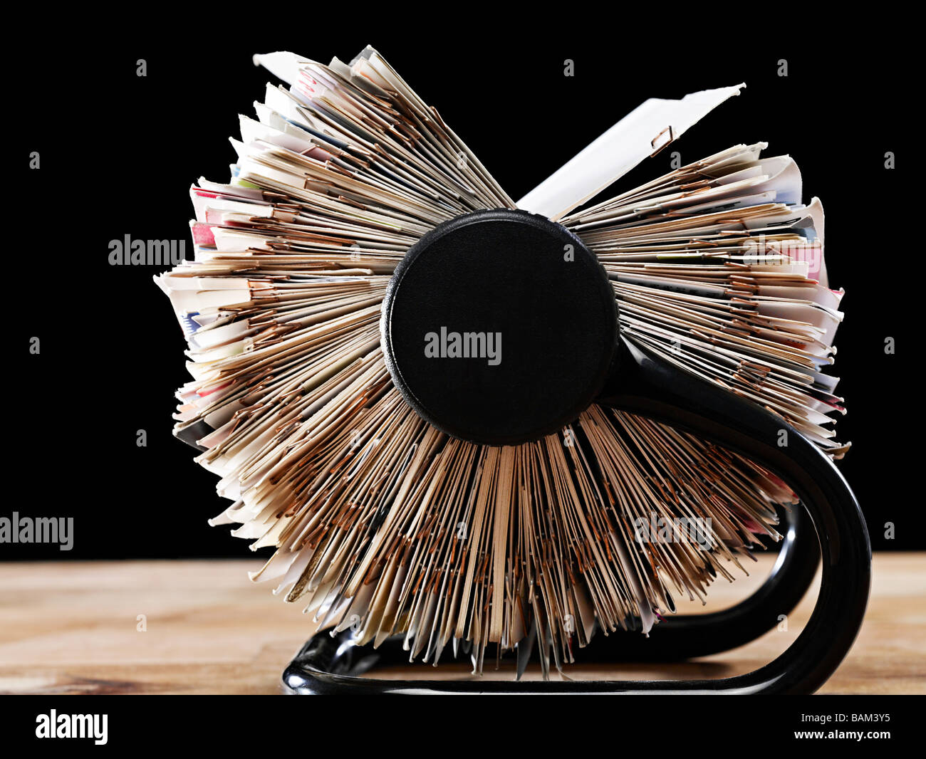 Rotary card file - Stock Image