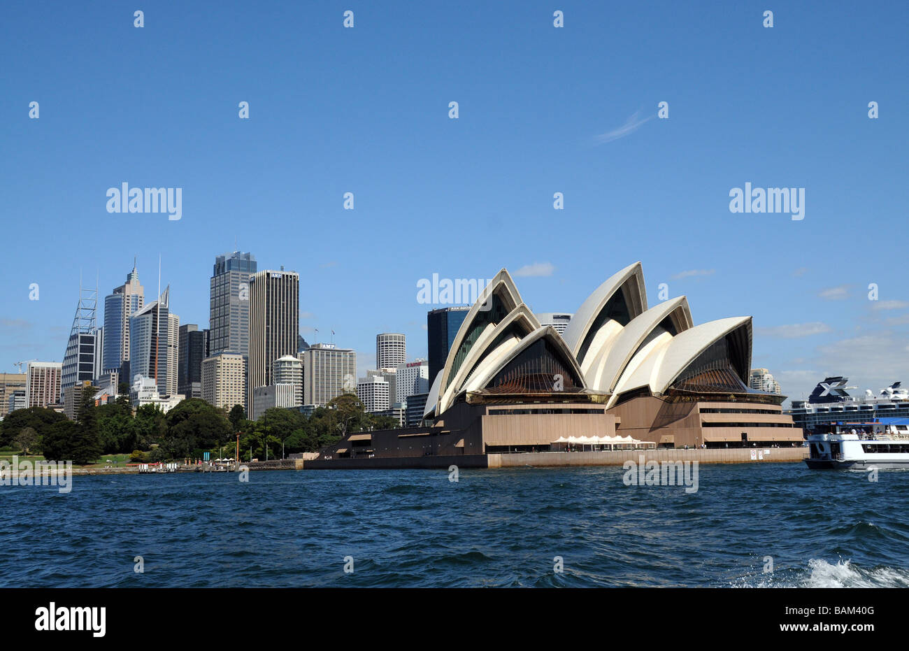 Sydney,AustraliaView ofCity with Opera House built in 2003, designed by Jorn Utzon, one of the word's most distinctive - Stock Image