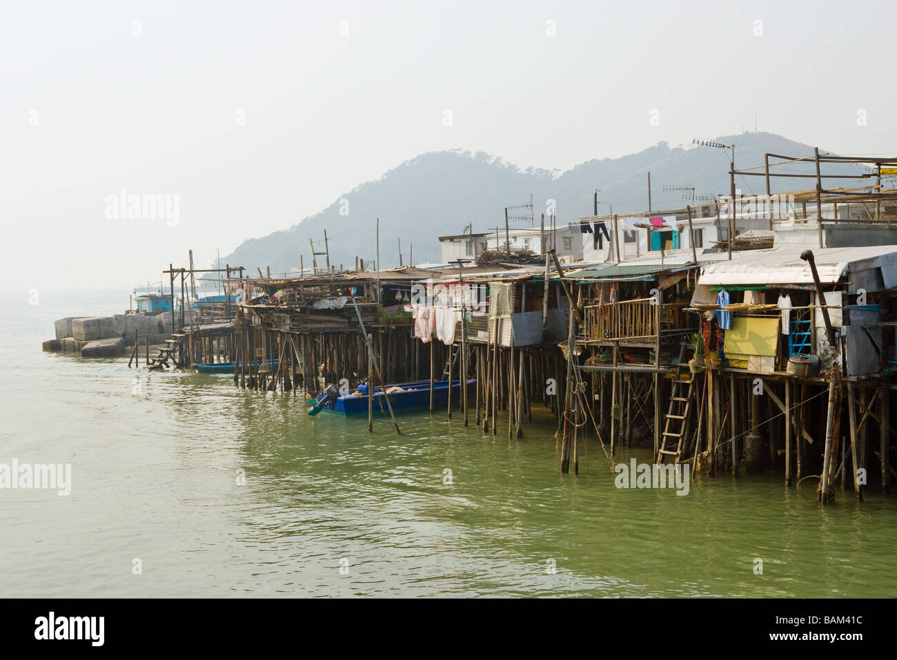 Tai o village lantau island Stock Photo