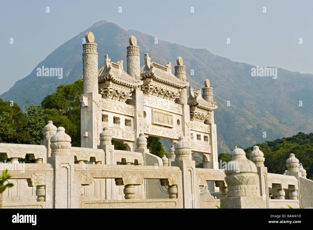Po lin monastery lantau island - Stock Image