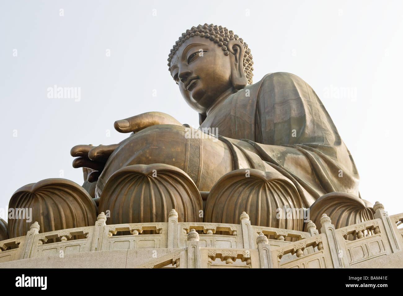 Giant buddha at po lin monastery - Stock Image