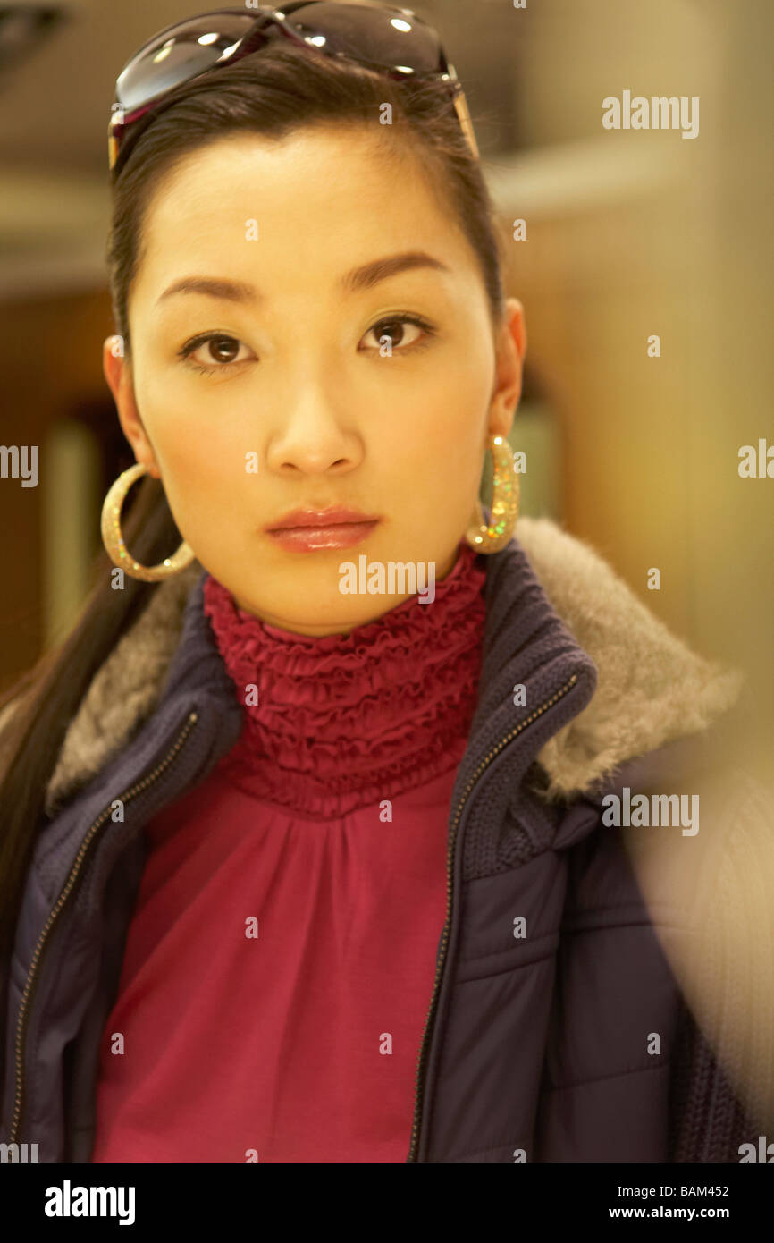 Fashionable Woman Looking At Camera - Stock Image