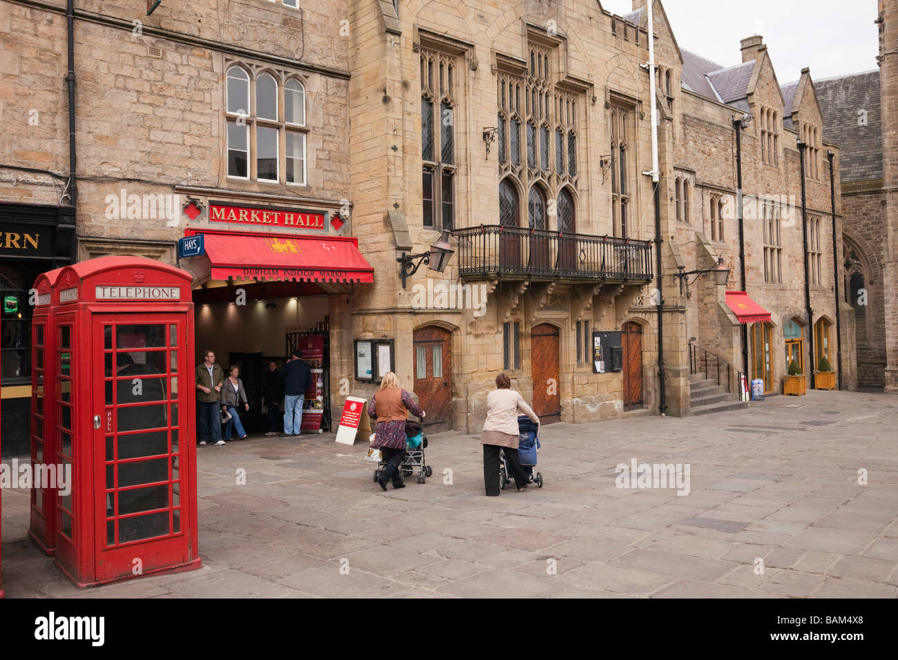 Market Place Durham County Durham England Uk Old Indoor Market And