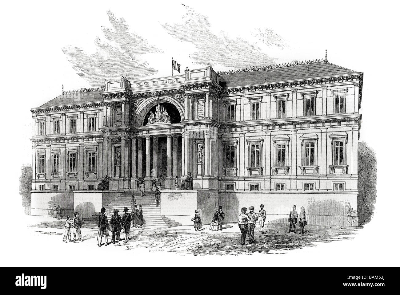The New Palais De Justice At Nantes Palace Of French Hall Courthouses Architecture