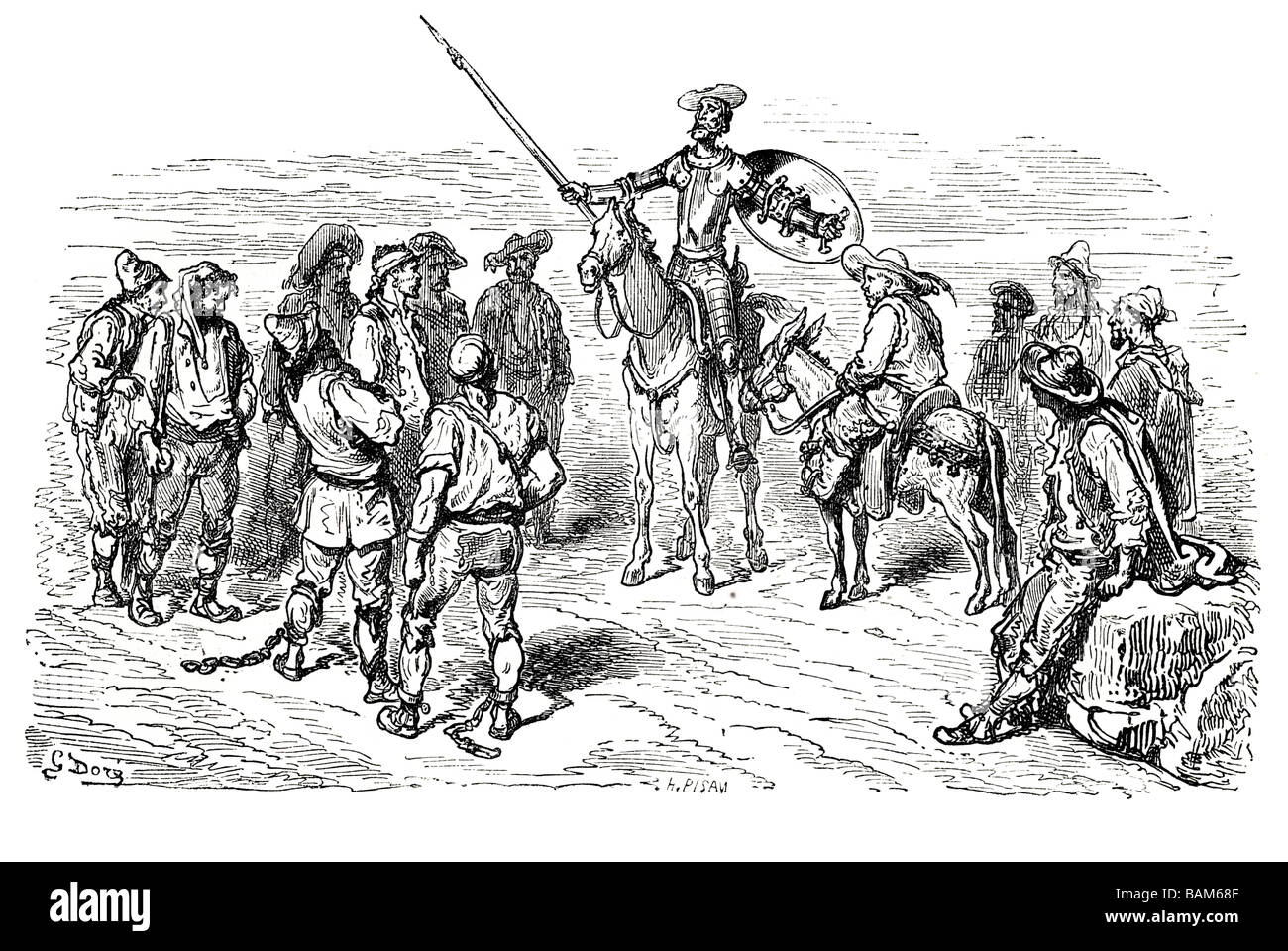 chapter XXL Don quixote spanish novel Alonso Quixano Cervantes literature quest Stock Photo