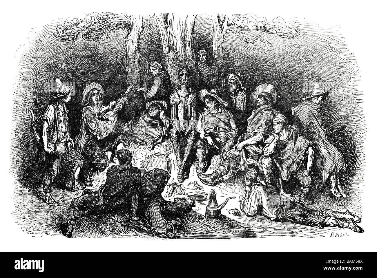 chapter XI 11 eleven Don quixote spanish novel Alonso Quixano Cervantes literature quest Stock Photo