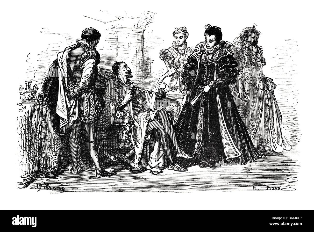 chapter XLIV 44 fourty four Don quixote spanish novel Alonso Quixano Cervantes literature quest Stock Photo