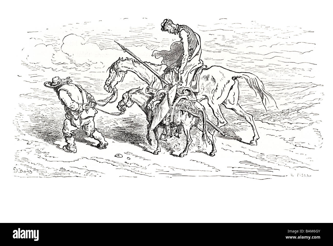 chapter LXXI what happened to don quixote and his squire on their way home 71 seventy one Don quixote spanish novel Stock Photo