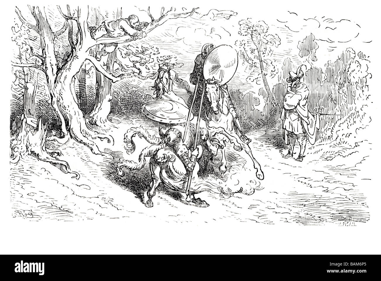 chapter XIV a continuation of the adventure of the knight of the wood 14 fourteen Don quixote spanish novel Alonso Stock Photo