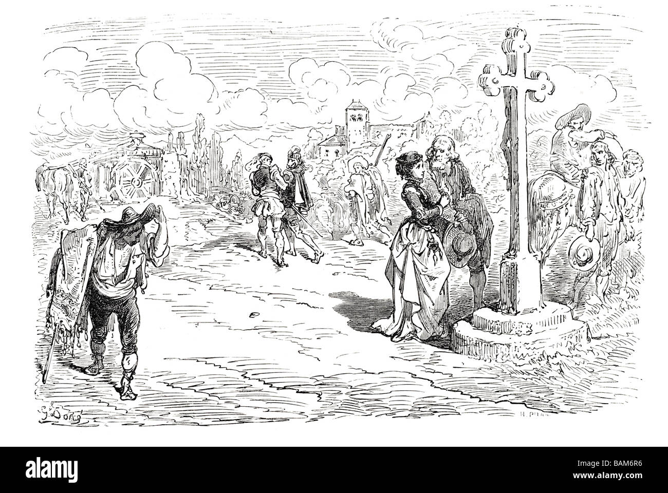 chapter XLVII the goatherd s tale 47 forty seven Don quixote spanish novel Alonso Quixano Cervantes literature quest Stock Photo