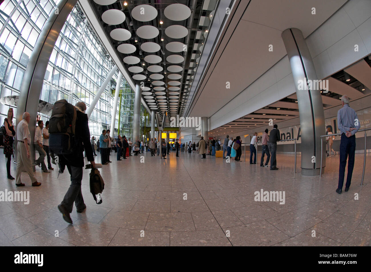 Arrivals London Heathrow Terminal 5 - Stock Image